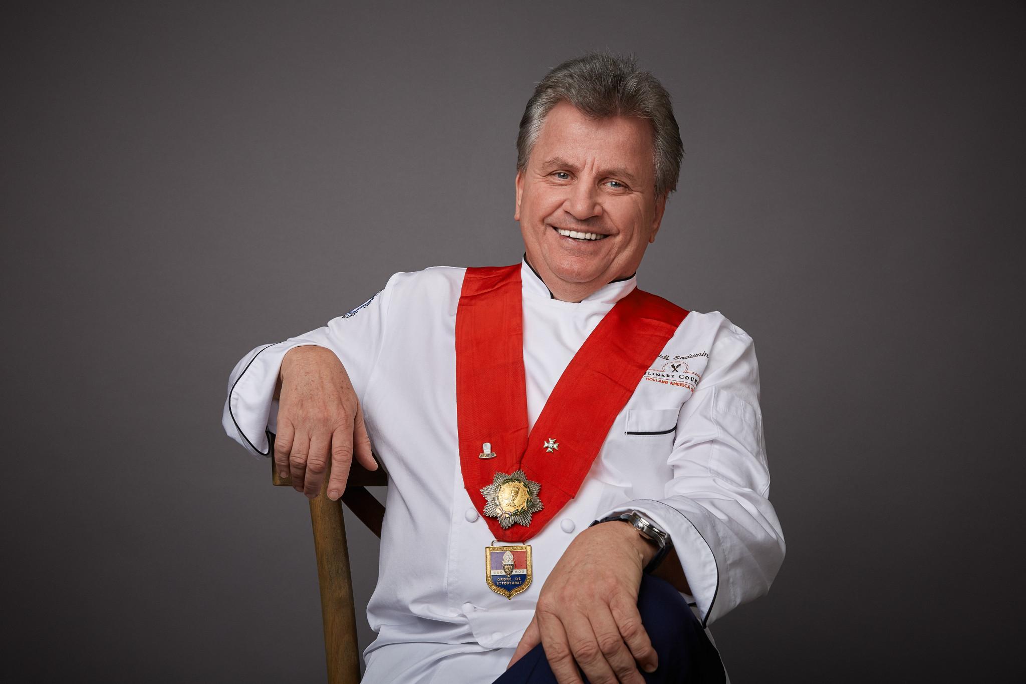Master Chef Rudi Sodamin, Chairman of Holland America Line's Culinary Council